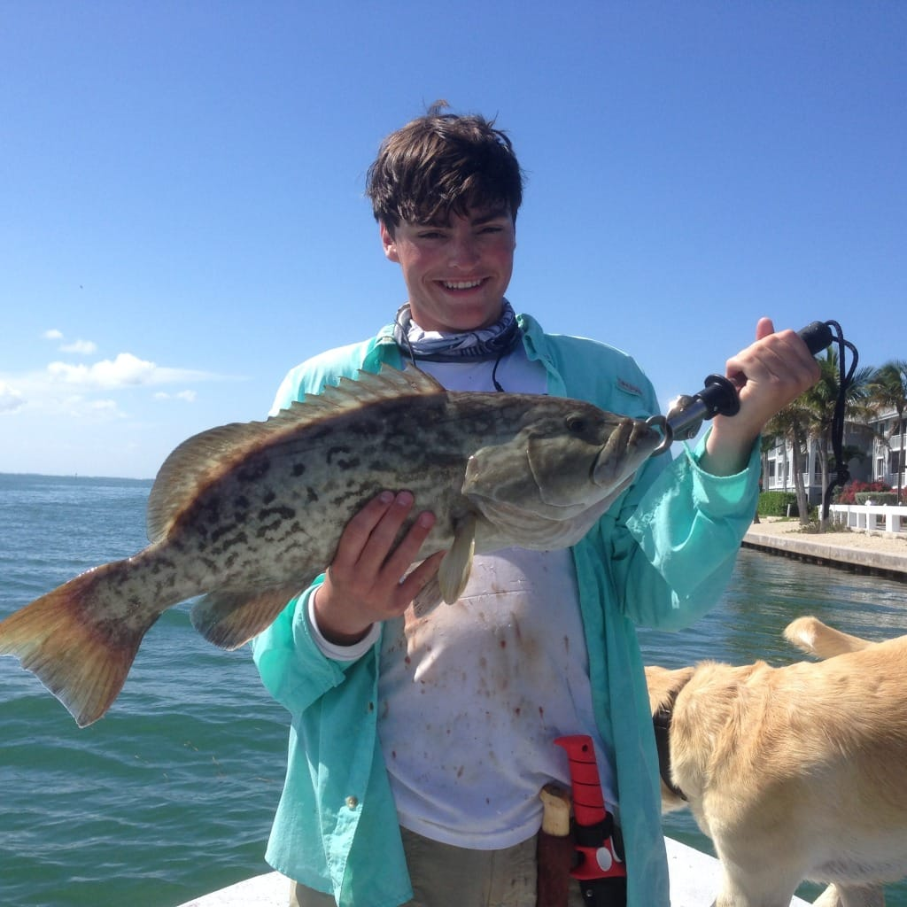 Charlie, Grouper, 6-22-14, Redfish Pass, Drift Along South Seas Island Resort.