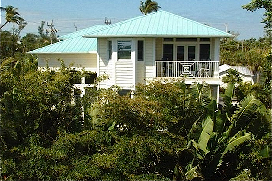Happy Daze, Back View Of House, Captiva Rentals.