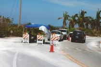 Hurricane Irma. Lee County Announces Mandatory Friday Morning Evacuation of Sanibel & Captiva Islands. Hurricane Charley, Blind Pass Bridge, National Guard, Checkpoint, August 19, 2004.