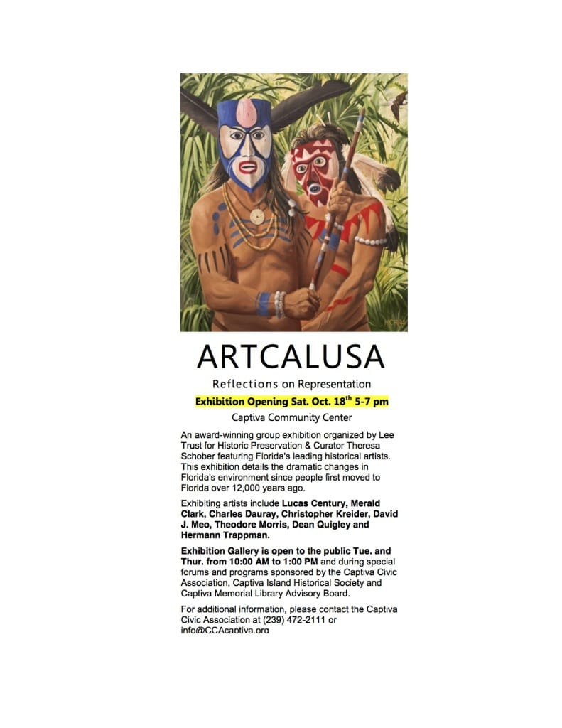 Captiva Civic Association, ARTCALUSA Opening @ Captiva Community Center October 18.