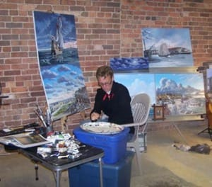 ARTCALUSA Opening @ Captiva Community Center, Artist Dean Quigley At Work, Courtesy Of Art History Pensacola Blog.