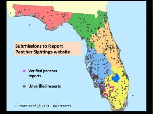 Sanibel, Florida Panther Reported Sightings, Courtesy Of FWC, Via Creative Commons.