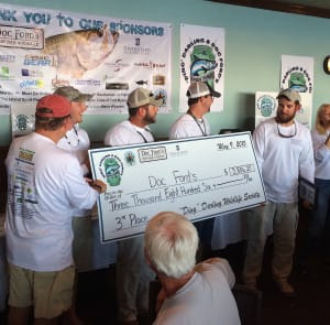 "Doc Ford's Team, 3rd Place, 2015 ""Ding Darling"" & Doc Ford's Tarpon Tournament, 5-9-15."