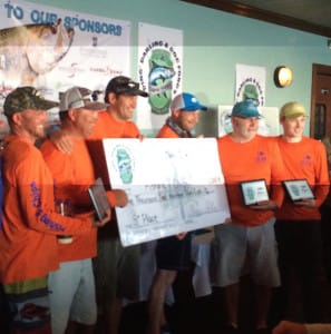 "Fishing & Chips Team, 5th Place, 2015 ""Ding Darling"" & Doc Ford's Tarpon Tournament, 5-9-15."