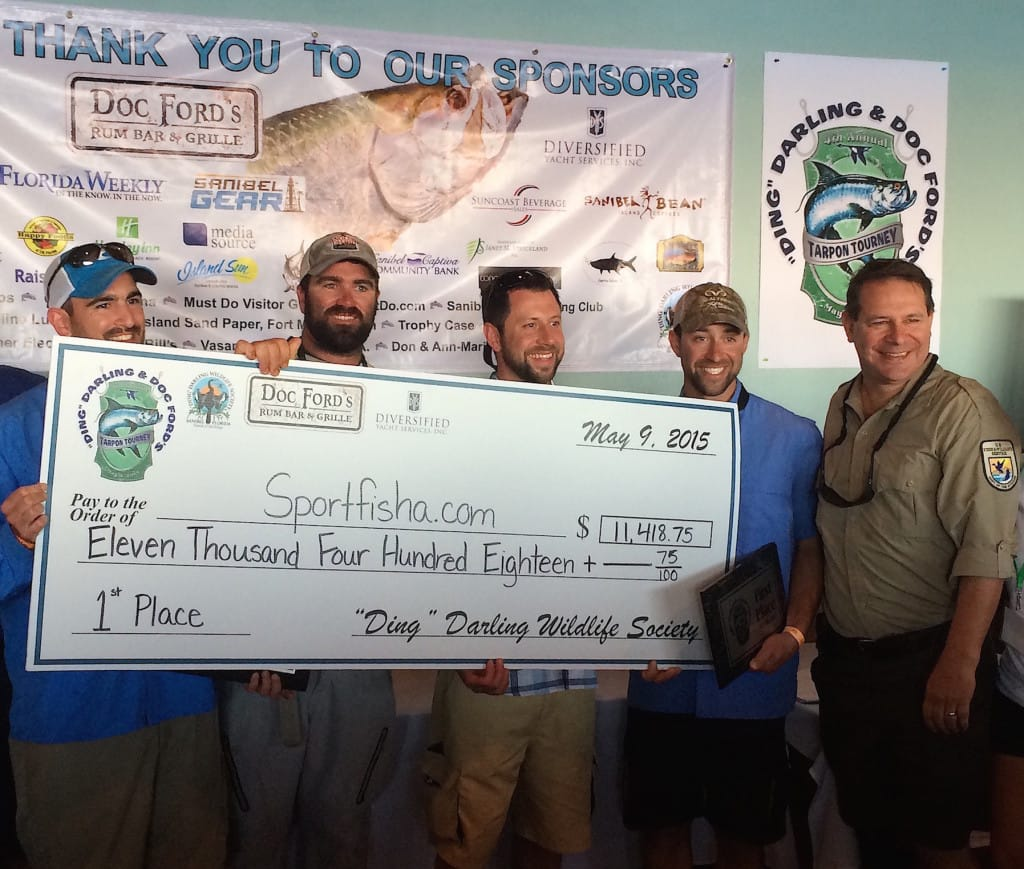 "Sportfisha.com Team, 1st Place, 2015, ""Ding Darling"" & Doc Ford's Tarpon Tournament, 5-9-15."