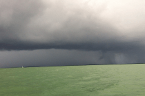 Another storm rolling in across the bay toward Captiva Island, Charlie Landon, January 2016.