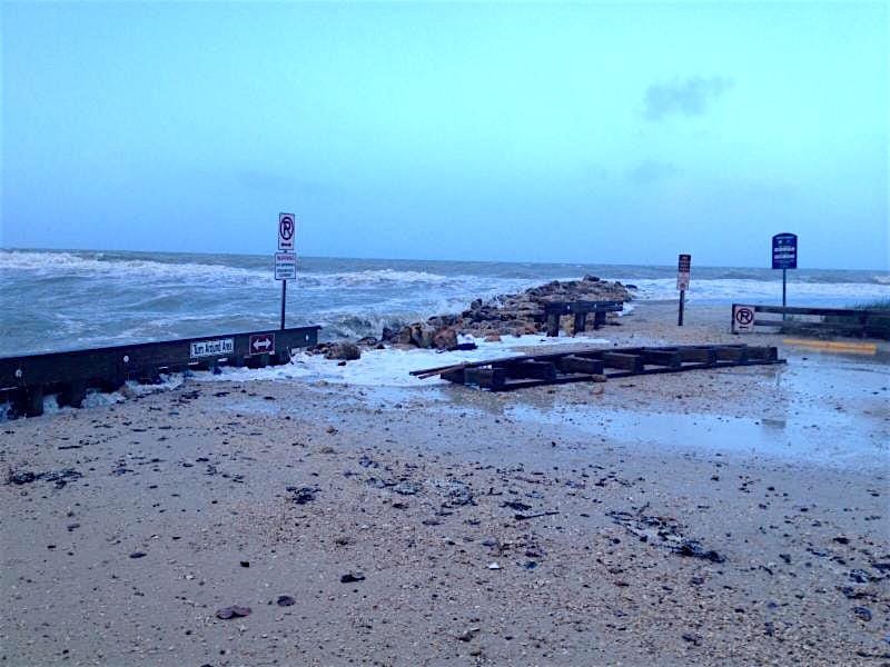 Turner Beach On Sunday, January 17th, Following The Storm.