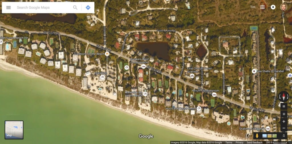 West Gulf Drive, Sanibel Island, Courtsey Of Google Maps.