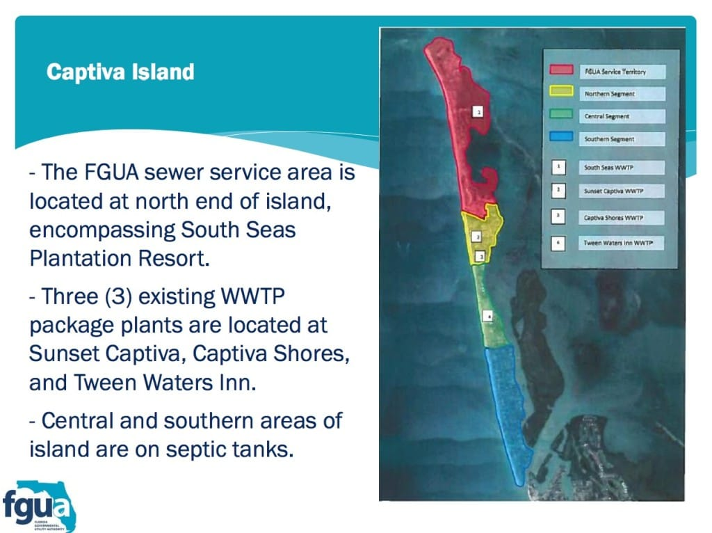Current Captiva Island Waste Treatment, Florida Government Utility Authority, December 2015.