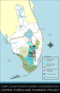Map CERP Central Everglades Planning Project.