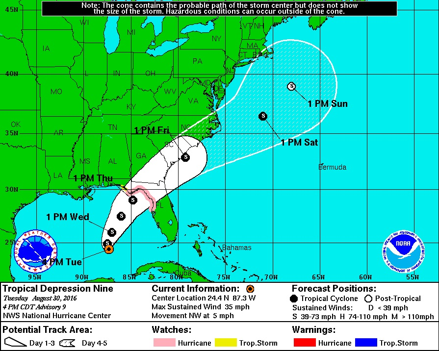 Tropical Depression Nine Tracking, Possible Trajectory, Sanibel & Captiva Islands Keep A Wary Eye.