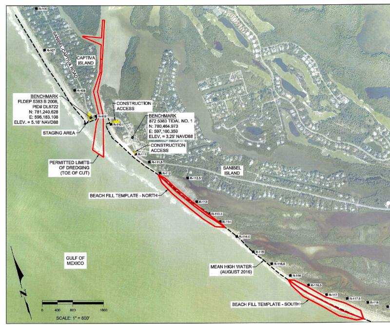 Blind Pass Dredging - Blind Pass Maintenance Project: mobilization of equipment, pipes and set up on February 8, 2017 and continue to approximately February 20; actual dredging and sand movement will begin on the landward side of the bridge on February 21.
