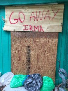 Hurricane Irma, Go Away Irma Sign, Sanibel & Captiva Islands Cleanup, September 18, 2017.